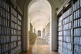 Archives for literary papers in beautiful library